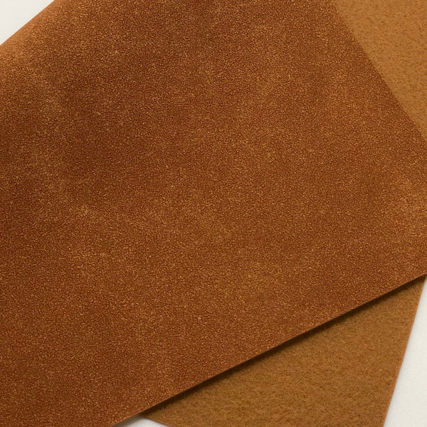 Gingerbread Brown Soft Faux Suede