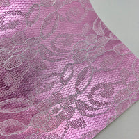 Light Pink Lace Textured Faux Leather