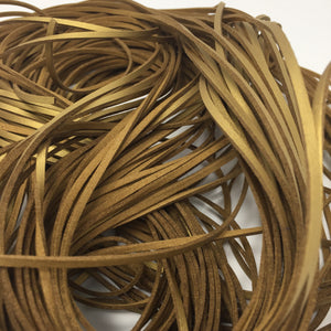 Gold Smooth Faux Suede Cord 5 yards