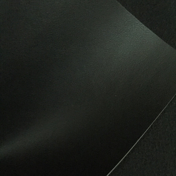 Black Smooth Faux Leather