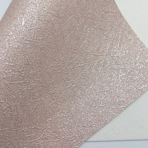 Shimmer Peach Cracked Fine Glitter Canvas