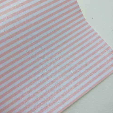 Light Peach and White Printed Faux Leather