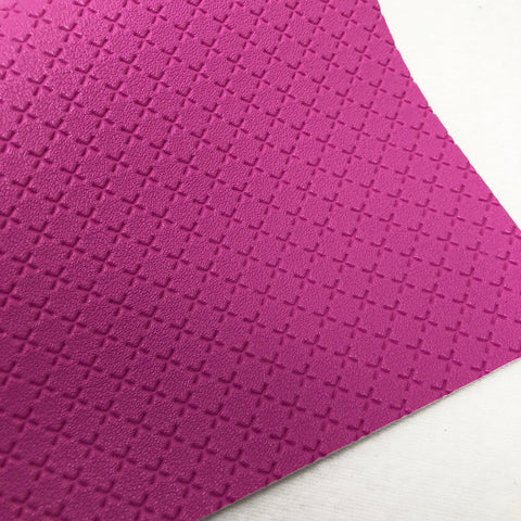 Hot Pink Embossed Exes Textured Faux Leather