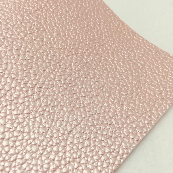 Metallic Peach Textured Faux Leather