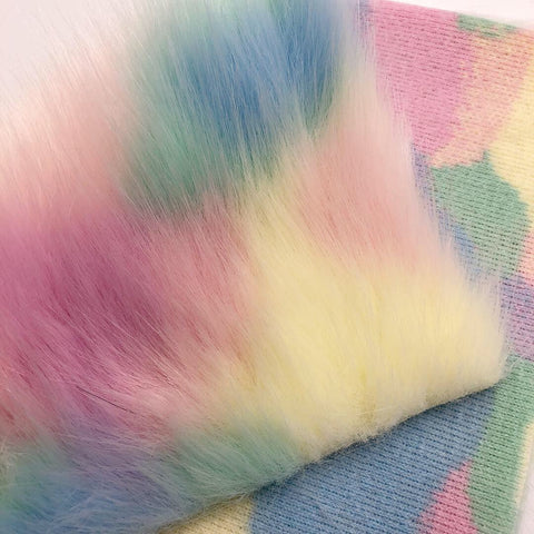 Pastel Unicorn Fur Fabric