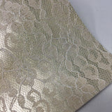 Gold Lace Textured Faux Leather