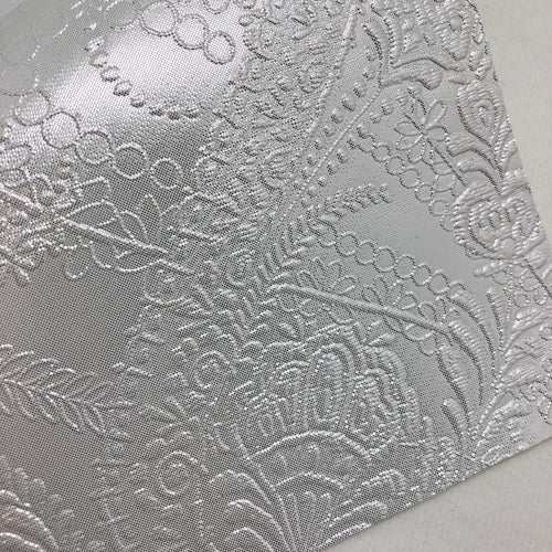 Imperfect Metallic Pearl Embossed Textured Faux Leather