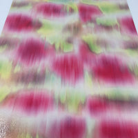Neon Tie Dye Glossy Faux Leather