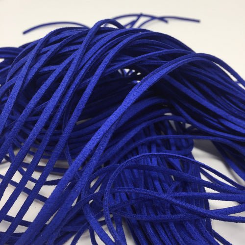 Royal Blue Faux Suede Cord 5 yards