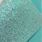 Baby Blue and Transparent Purple Iridescent Chunky Glitter Sheet