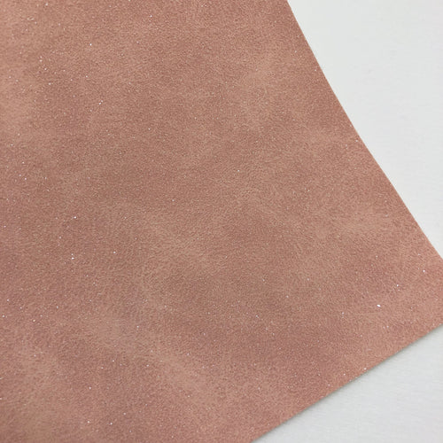 Shimmer Pastel Peach Faux Suede
