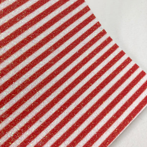 Red Stripes Fine Glitter