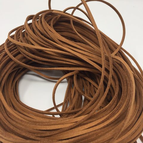 Brown Faux Suede Cord 5 yards