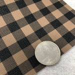 Brown Buffalo Checkered Textured Faux Leather