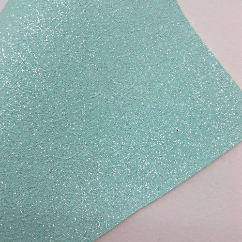 Shimmer Mint Cracked Fine Glitter Canvas