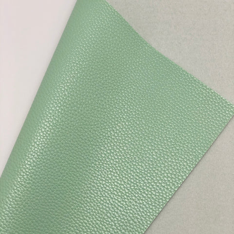 Mint Green Textured Faux Leather