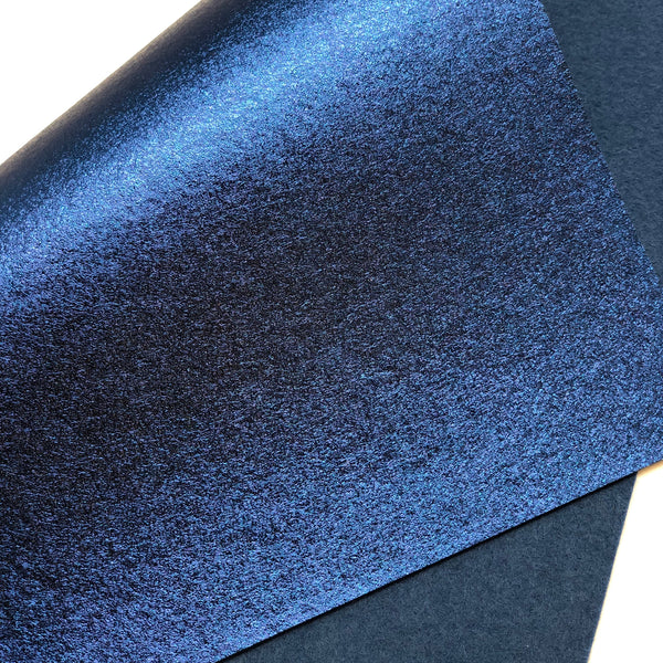 Metallic Navy Blue Felt