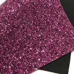 Glassy Plum Purple Chunky Glitter Sheet