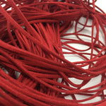 Red Faux Suede Cord 5 yards