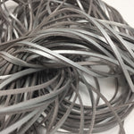Silver Smooth Faux Suede Cord 5 yards