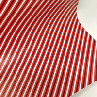 Candy Cane Stripes Printed Faux Leather
