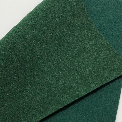 Hunter Green Soft Faux Suede