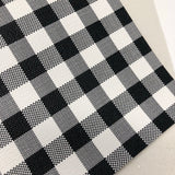 White Buffalo Checkered textured Faux Leather