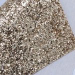 Premium Light Gold Chunky - white twill back Glitter Sheet