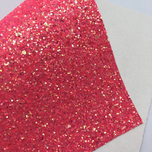 Juicy Coral Chunky Glitter Sheet