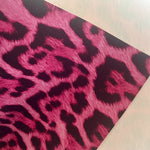 Hot Pink Leopard Print Faux Leather