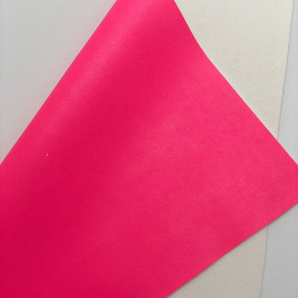 Hot Pink Smooth Faux Leather