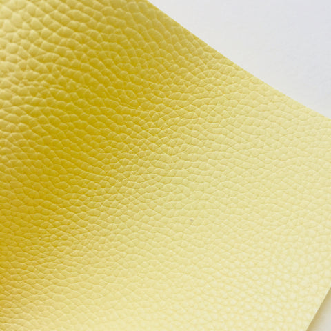 Light Yellow Textured Faux Leather