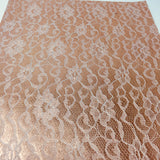 Rose Gold Lace Textured Faux Leather