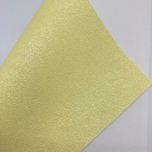 Shimmer Yellow Cracked Fine Glitter Canvas