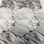 Monochrome Marble Printed Faux Leather