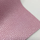 Metallic Pink Textured Faux Leather