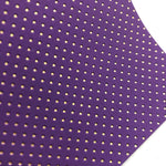 Purple and Gold Embossed Dots Canvas