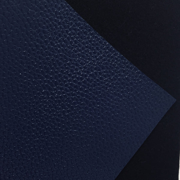 Navy Blue Textured Faux Leather