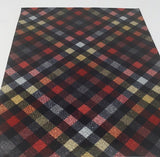 Holiday Plaid Patent Faux Leather