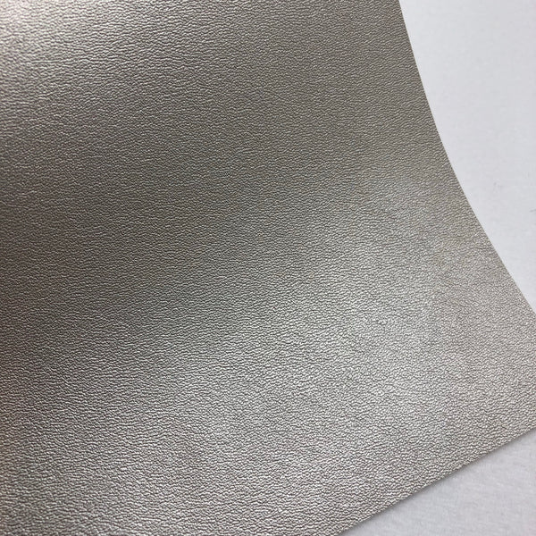 Pale Silver Faux Leather