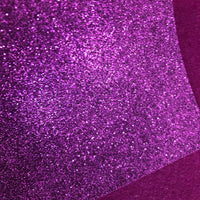 Plum Purple Glitter Felt