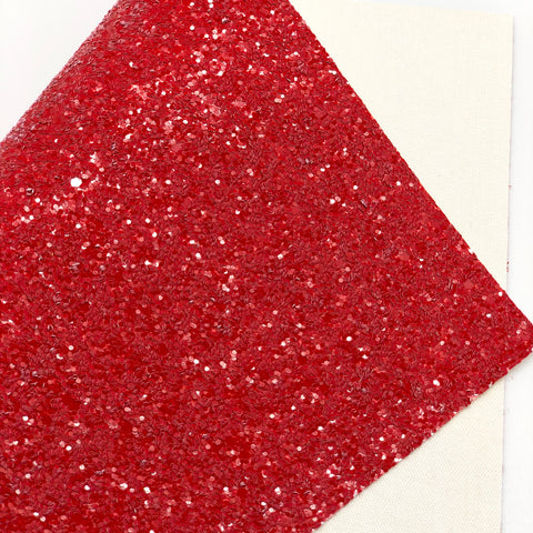 Red Crayon Chunky Glitter