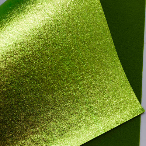 Metallic Lime Felt