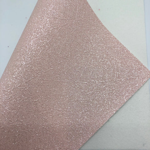 Imperfect Shimmer Light Pink Cracked Fine Glitter Canvas