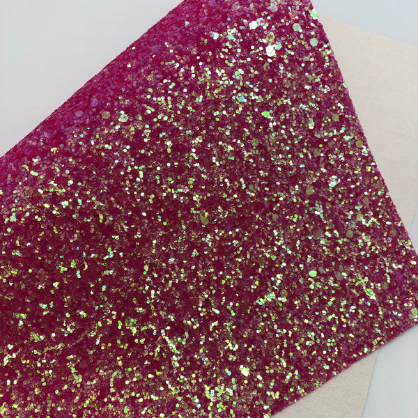 Juicy Rose Pink Chunky Glitter Sheet