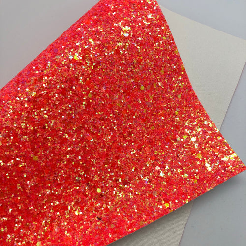 Juicy Tangerine Chunky Glitter Sheet