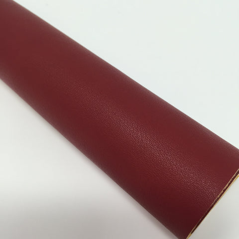 Crimson Red Smooth Faux Leather