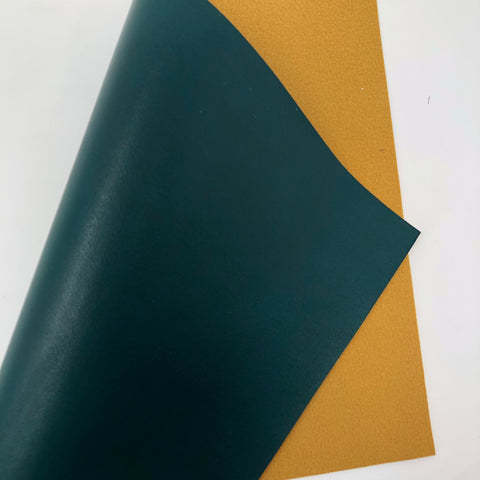 Hunter Green Smooth Faux Leather
