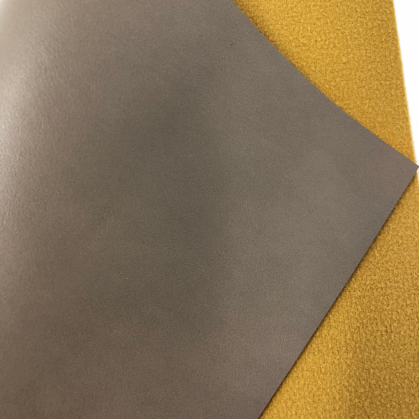 Taupe Smooth Faux Leather