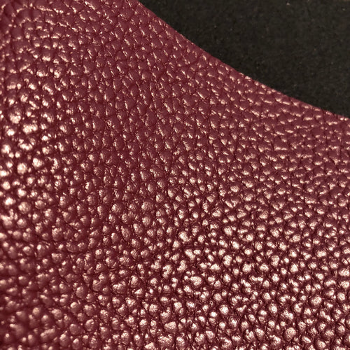 Imperfect Merlot Textured Faux Leather